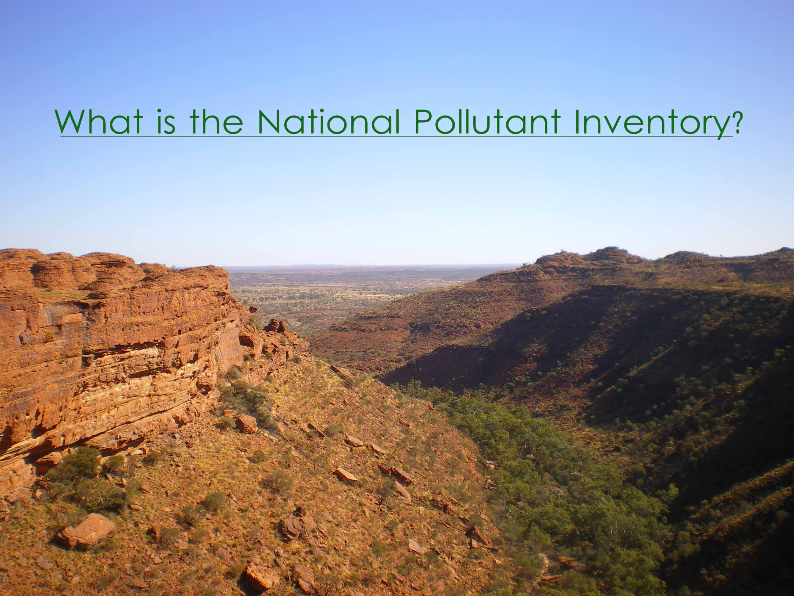 Find out about the national pollutant inventory - NPI consultancy services